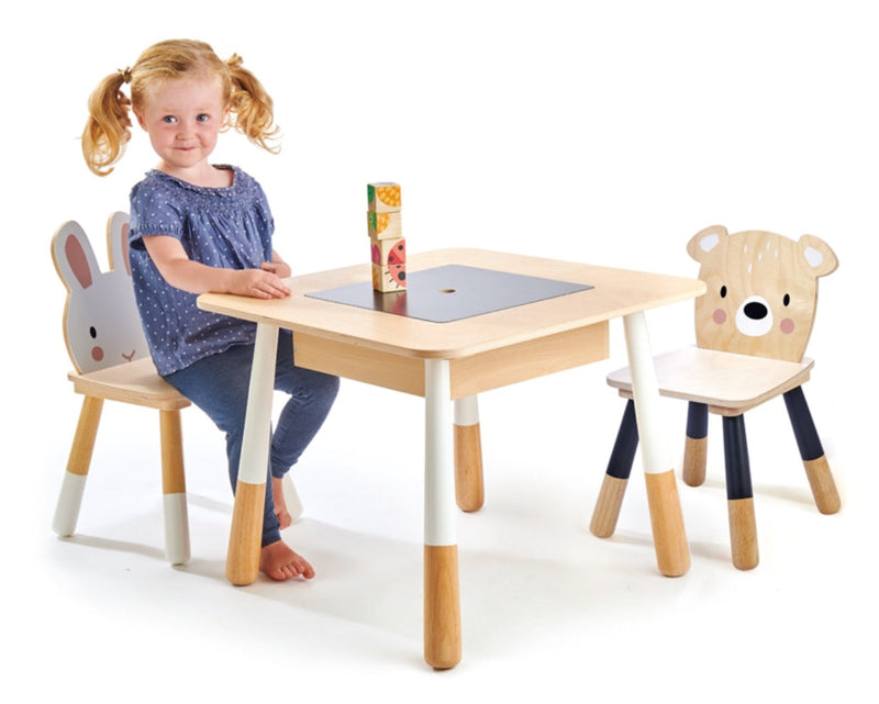 Tender Leaf - Wooden Table & Chairs - Animal Theme in Timber