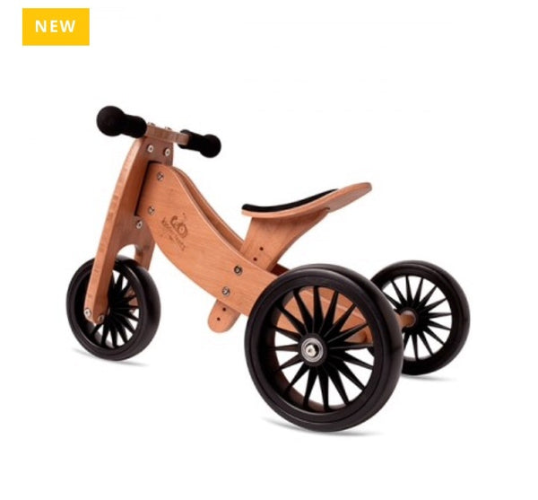 Kinderfeets 2-in-1 Balance Bike PLUS - Bamboo in wood