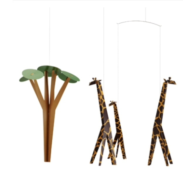 giraffes-on-the-savannah-in-multi-colour-print