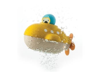 Plan toys wooden submarine is a great imagnative toy for the bath & water play. Perfect for age 1+