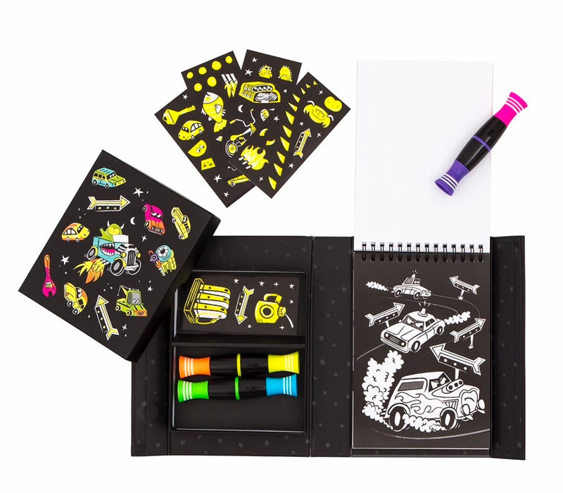 Tiger Tribe - Neon Colouring Set Road Star