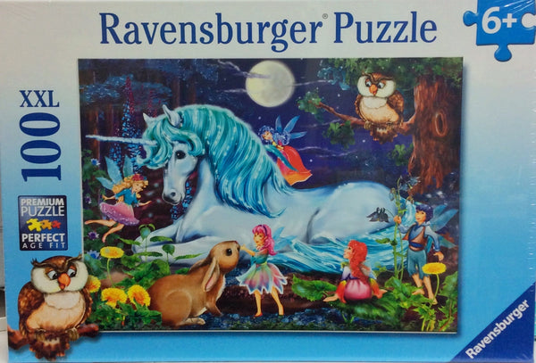 This puzzle is a very sweet Unicorn puzzle with fairies. Recommended age 6 + Puzzle size  49 x 36 cm Box Size 33 x 23 x 4 cm Made in Germany