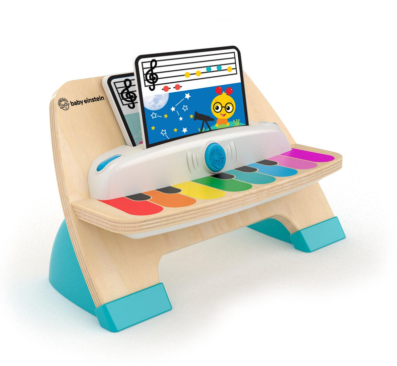 A colourful wooden pian by baby einstein with touch technology for children age 1 +