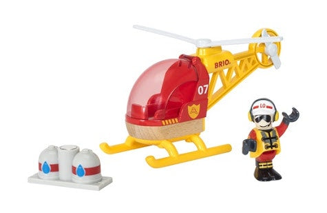 Help save the day with this fantastic firefighter helicopter! Perfect gift for any 3 year old and up