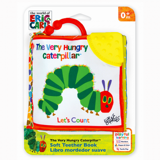 Eric Carle - Soft Teether Book - Very Hungry Caterpillar Clip on, Lets Count