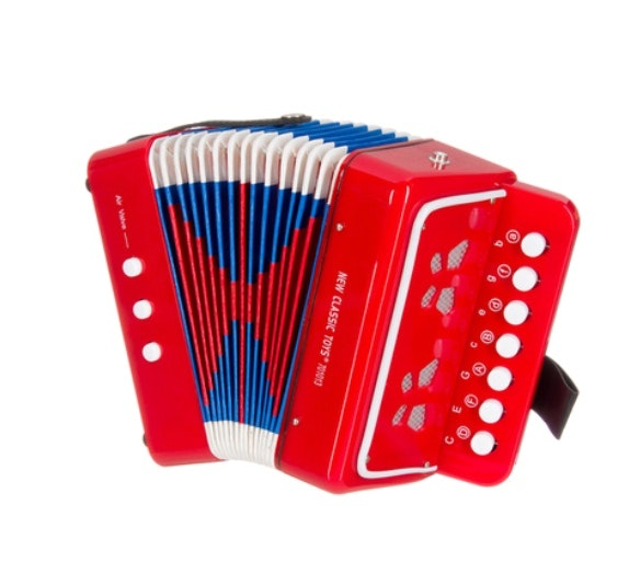 accordion-red-in-red