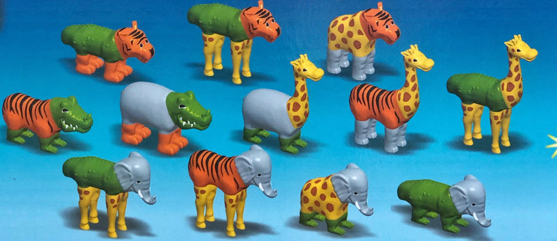 Popular Playthings -  Magnetic Jungle Animals in multi colour print