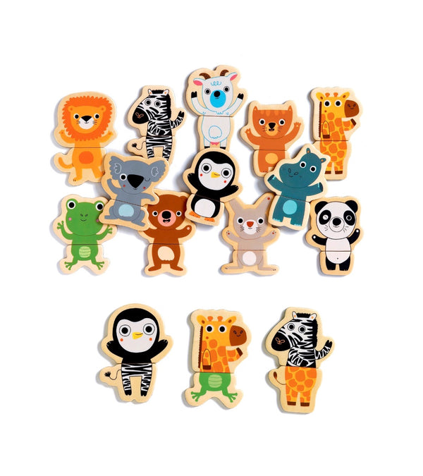 Djeco - Wooden Fridge Magnets, Coucou