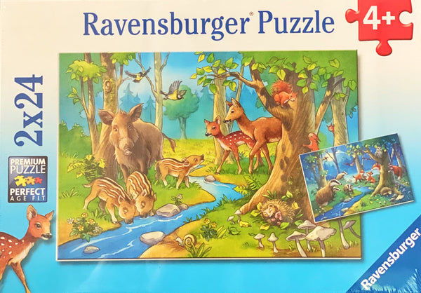 Ravensburger -  Jigsaw Puzzle, 2 x 24 Pieces, Animals of the Forest