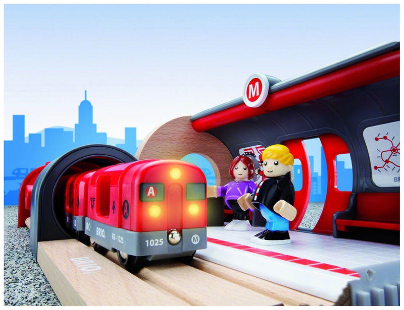 Brio - 20 Piece Metro Railway Set