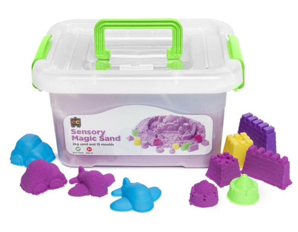 Magic Sensory Sand with Moulds 2 kg, Purple