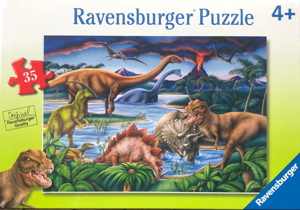 Ravensburger - Jigsaw Puzzle, 35 Pieces, Dinosaur Playground