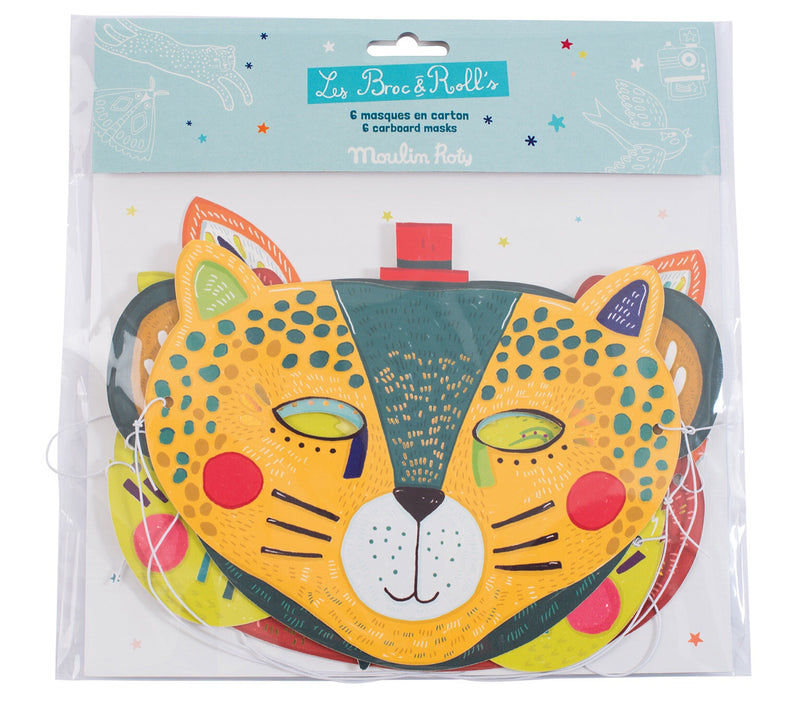 6 gorgeous masks perfect for playing dress ups and using imagination!