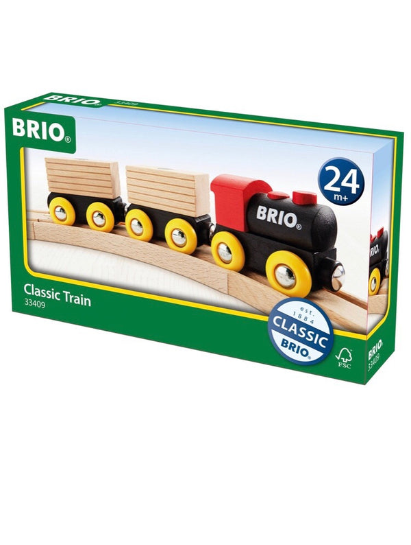 A classic train by Brio. Connect the trains and go! Recommended age 2+  A wonderful addition to any train set collection