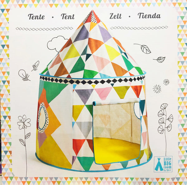 Djeco - Little Big Room, Tent in multi colour print