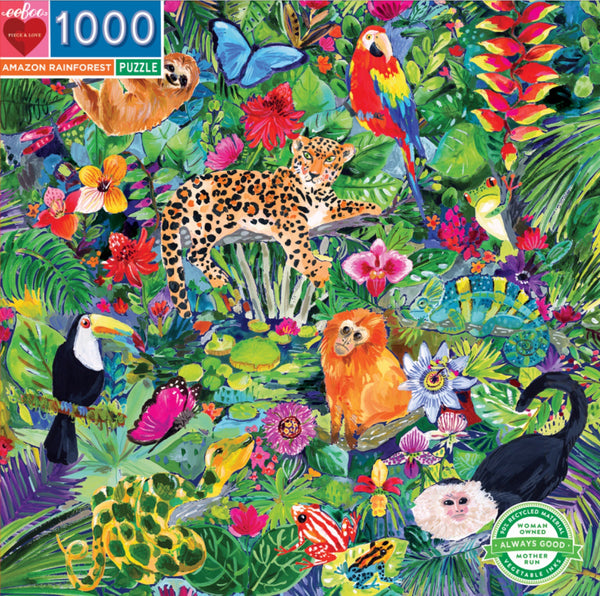 Eeboo - Jigsaw Puzzle Amazon Forest 1000 piece