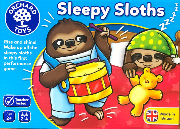 Orcchard Toys - new Sleepy Sloth Game for ages 2+. A performance game , having fun making noises to wake the sloths up. however everybody has to be quiet sometimes .