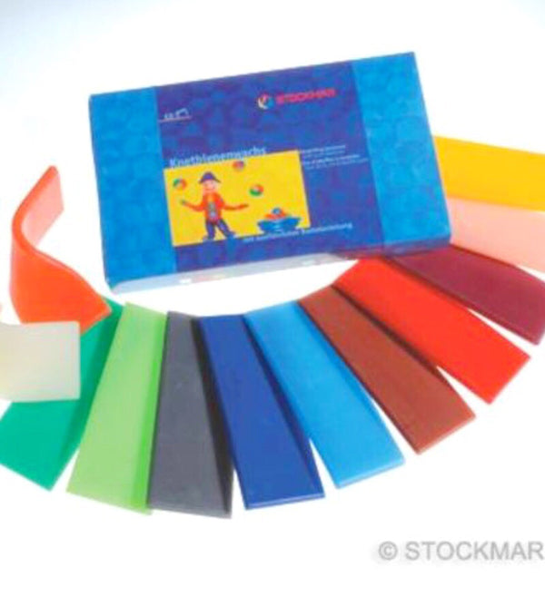 Stockmar - Decorating Wax - 12 assorted colours large