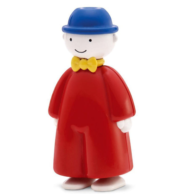 Tomy Toot is very known now. A pocket size little friend who can be taken anywhere. this happy little guy will whistle when you blow into his hat . Height 11 cm Recommended age 1 +