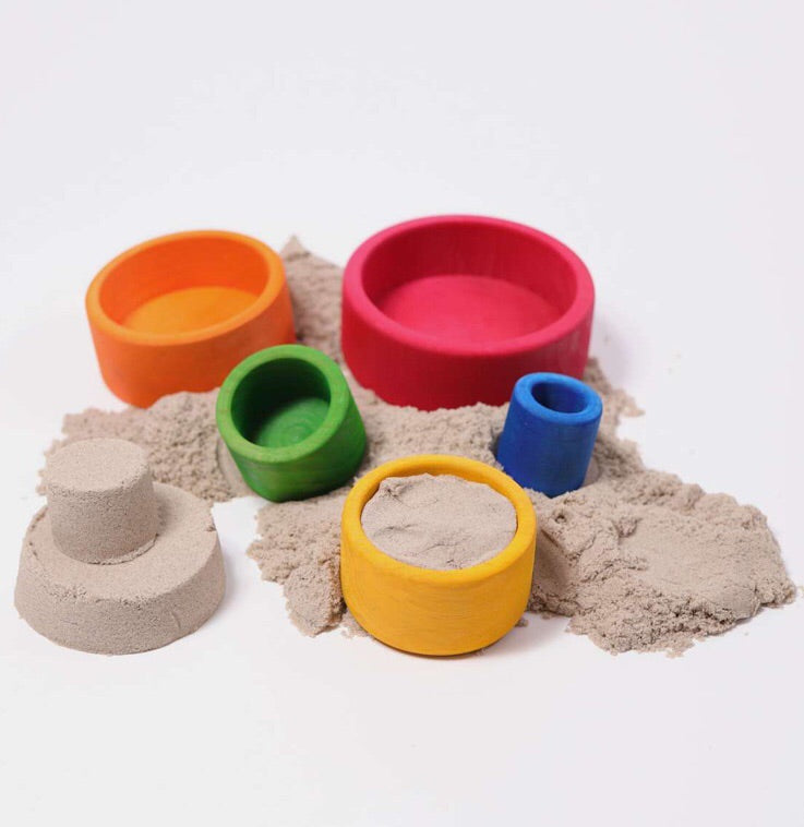 Grimm's Wooden Small Bowls for creative and imaginative sand play.