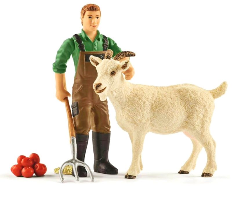 A great addition to the Schleich animals. Set includes farmer, goat, apples and farm tool. Play, play, play Recommended age 3-8 years