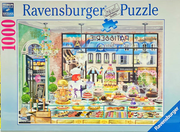A beautiful puzzle featuring a Paris Pastisserie. Puzzle sizes 70 x 50 cm Recommended age 10 + Made from recycled board Made in Germany