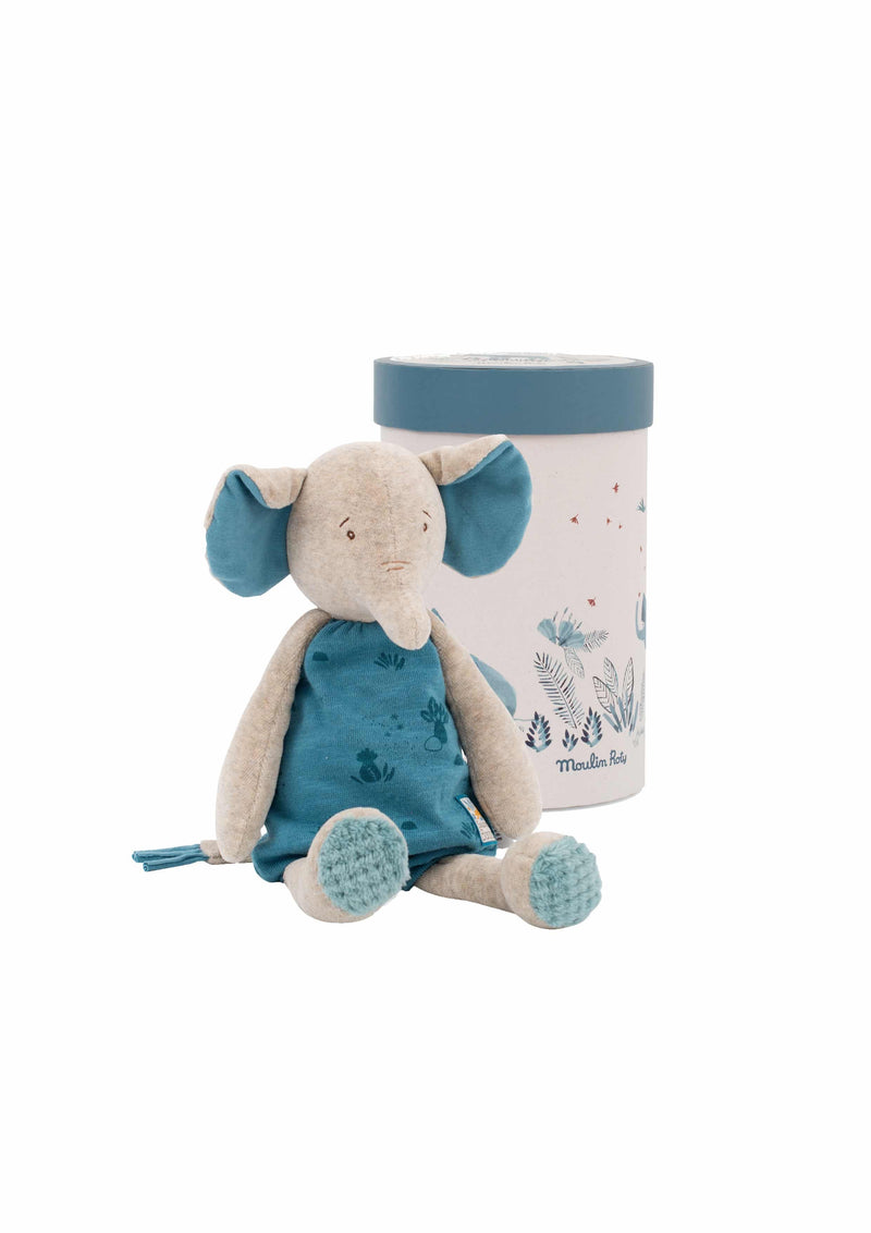 A gorgeous velour elephant soft toy for any new born baby and small child. Floppy ears, arms and trunk, ideal for cuddles.