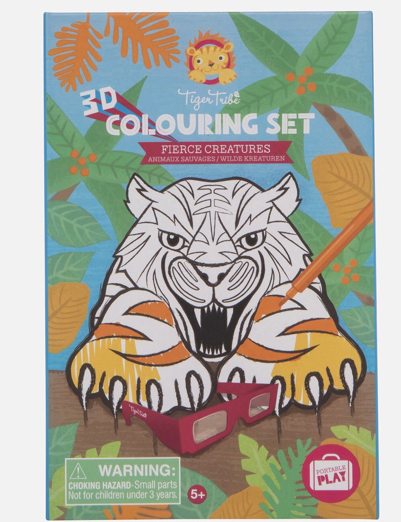 Tiger Tribe - Fierce Creatures 3D Colouring  Kit