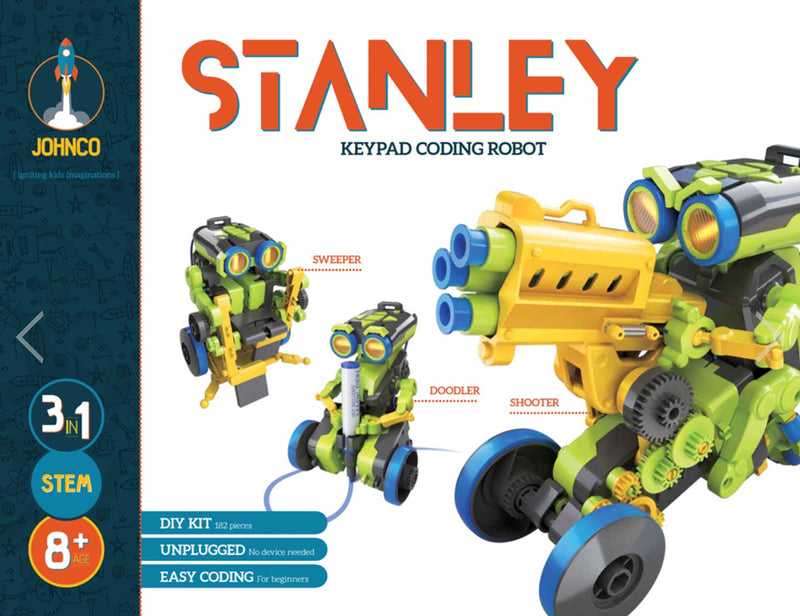 Johnco - Stanley : 3-in-1 Keypad Coding Robot