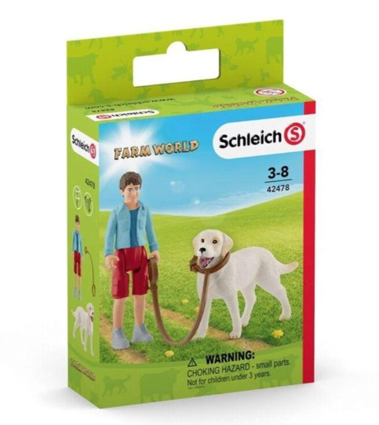 Schleich Farm Life - Walking with Labrador