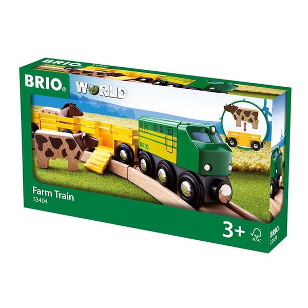A lovely 5 Piece farm set - take the cow and horse to the pasture!  Includes 1x Engine, 2x Cattle Wagons, 1x Cow, 1x Horse