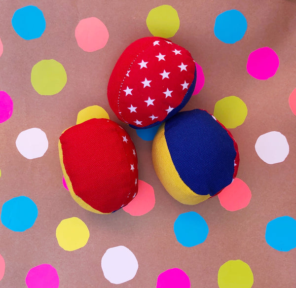 Juggling Balls - Blue/red/yellow/stars
