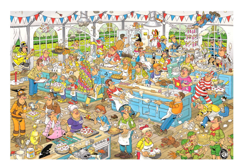 Jumbo  - Jan van Haasteren Jigsaw Puzzle 1500 piece, Clash of the Bakers