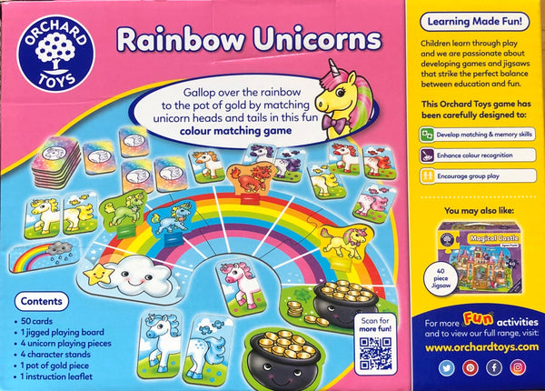 Orchard Toys - Games Rainbow Unicorns