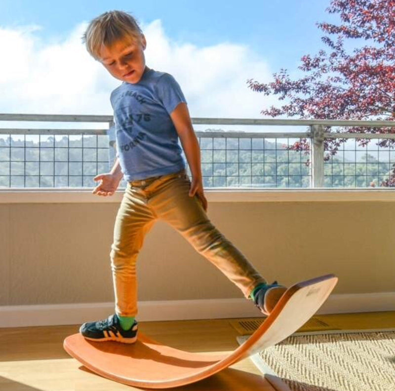 KInderfeets Wobble board is a fantastic active toy which improves core strength & lots of fun.