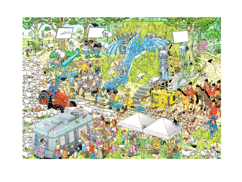 Jumbo  - Jan van Haasteren Jigsaw Puzzle 1000 piece, The Film Set