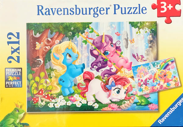 Ravensburger -  Jigsaw Puzzle, 2 x 12 Pieces Unicorns at Play