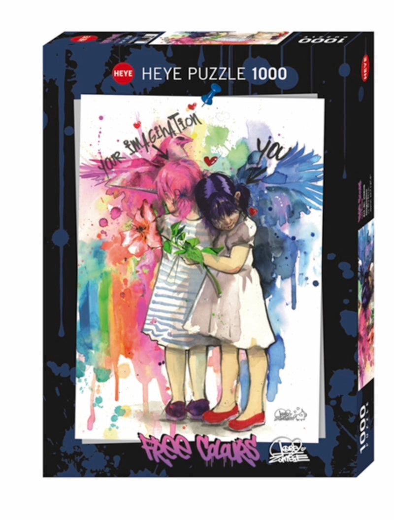 Heye  - Puzzle 1000 piece Free Colours,  Imagination