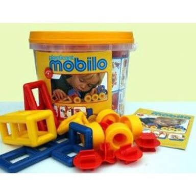 Mobilo Basic bucket is a great start for open ended building. Made in Germany and excellent for age 3-8 years