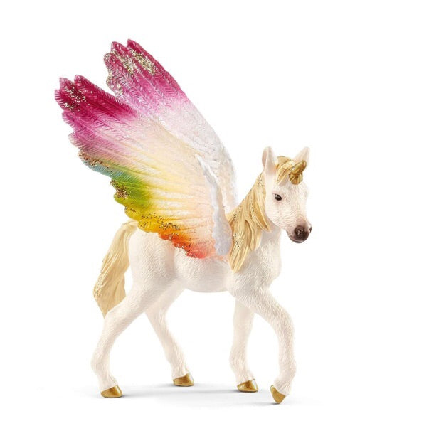 Schleich Unicorns - Winged Rainbow Unicorn Foal