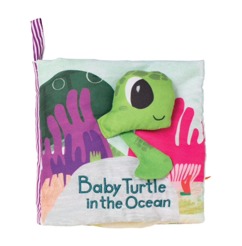 Manhattan Toys - Fabric Book , Baby Turtle in the Ocean