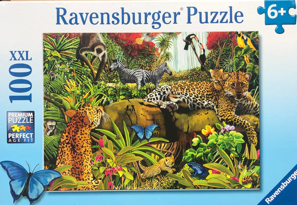 A lovely Jungle image full of Jungles animals & even a rainbow. Puzzle size 49 x 36 cm Recommended age 8+