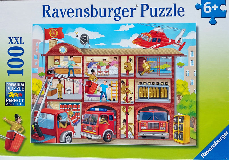 Ravensburger - Jigsaw Puzzle, 100 Pieces, Fire House Frenzy