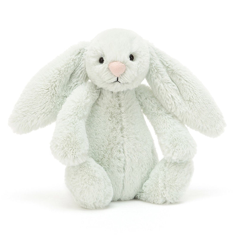 This beautiful mint bunny comes with a cute pink button nose and is perfect for any newborn +