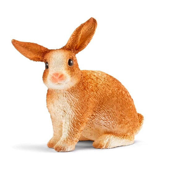 A very cute rabbit by Schleich. Rabbits are very social animals and love to eat juicy herbs, fresh clover, salad, twigs and peelings. Size height 4 cm,  length 2.5 cm , width 3 cm  Recommended age 3-8 years