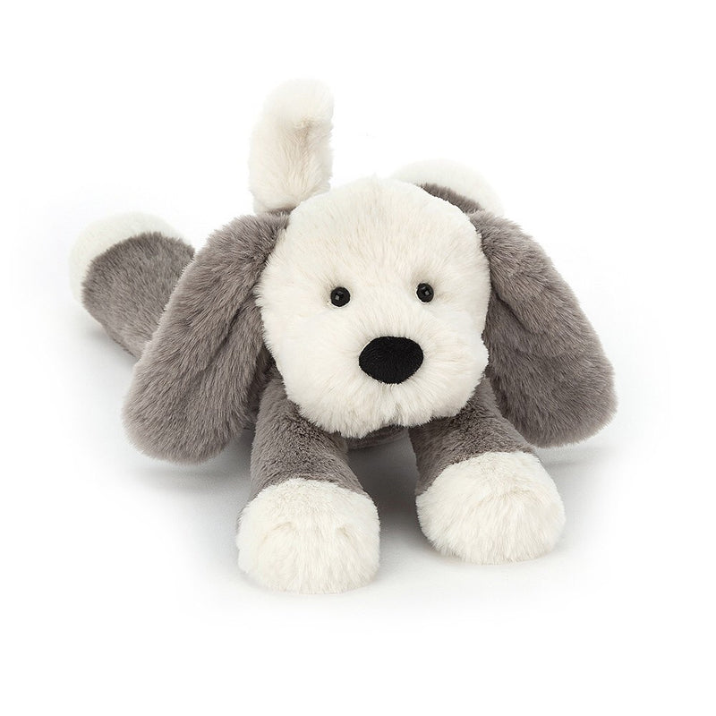 Jellycat Smudge puppy soft toy is so soft you cannot resist. A great cuddly toy for any child.