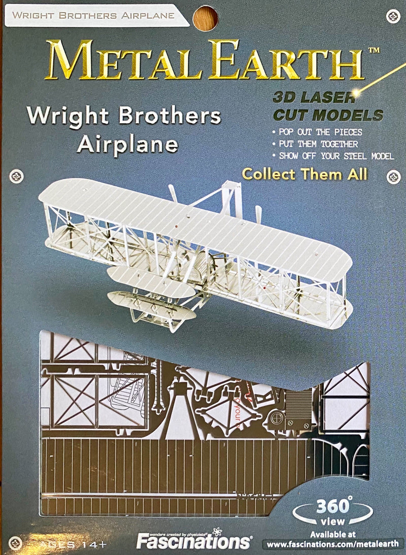 Metal Earth - 3D Metal Model Kit , Wright Brothers Airplane
