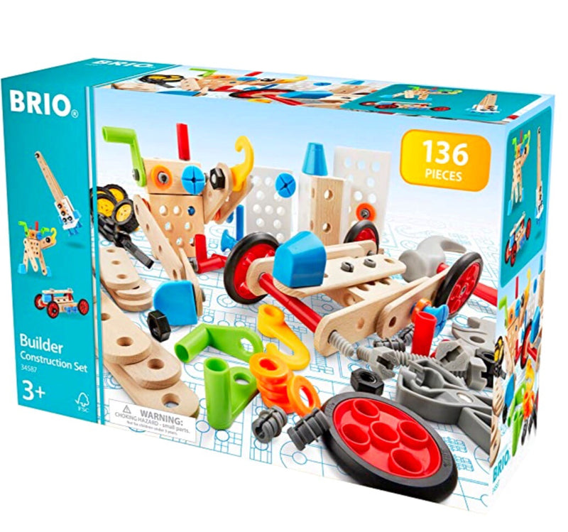 A fabulous new item from Brio - what you can build is up to your imagination! Includes: Nuts, bolts, blocks, a screwdriver, a hammer, a spanner and pliers.