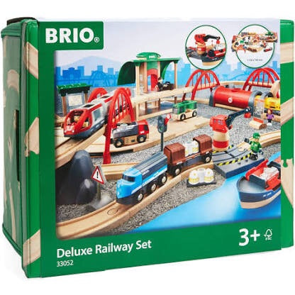 The most incredible Brio set for any train lover! This set includes everything you need for the ultimate train collection