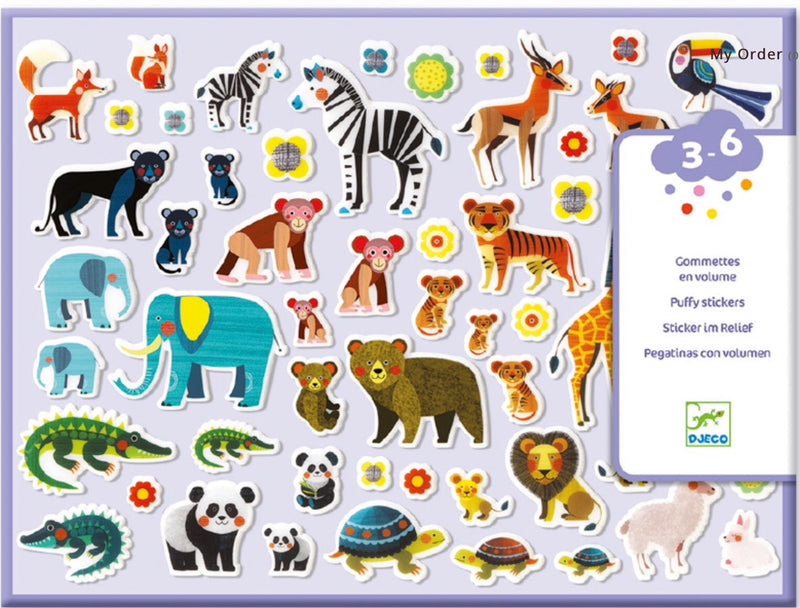 Djeco - Puffy Stickers, Mother & Babies